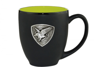 Custom metal 3D logo mug